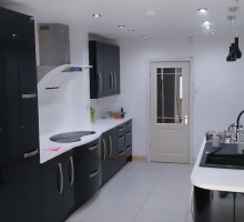 This kitchen was completely gutted and refurbished.